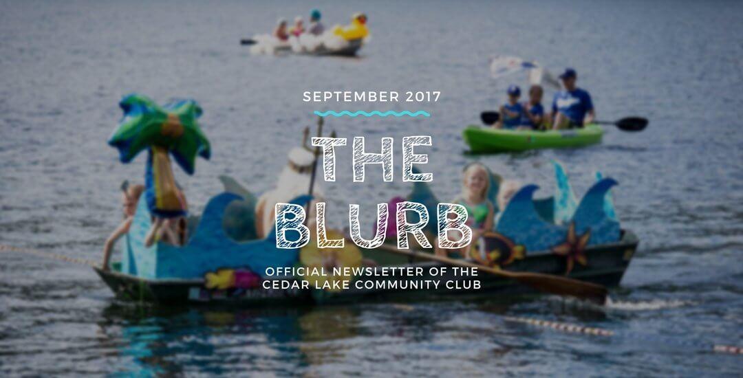 The Blurb – September 2017