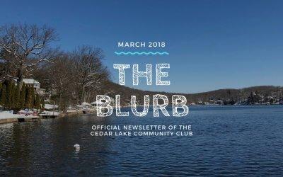 The Blurb | March 2018