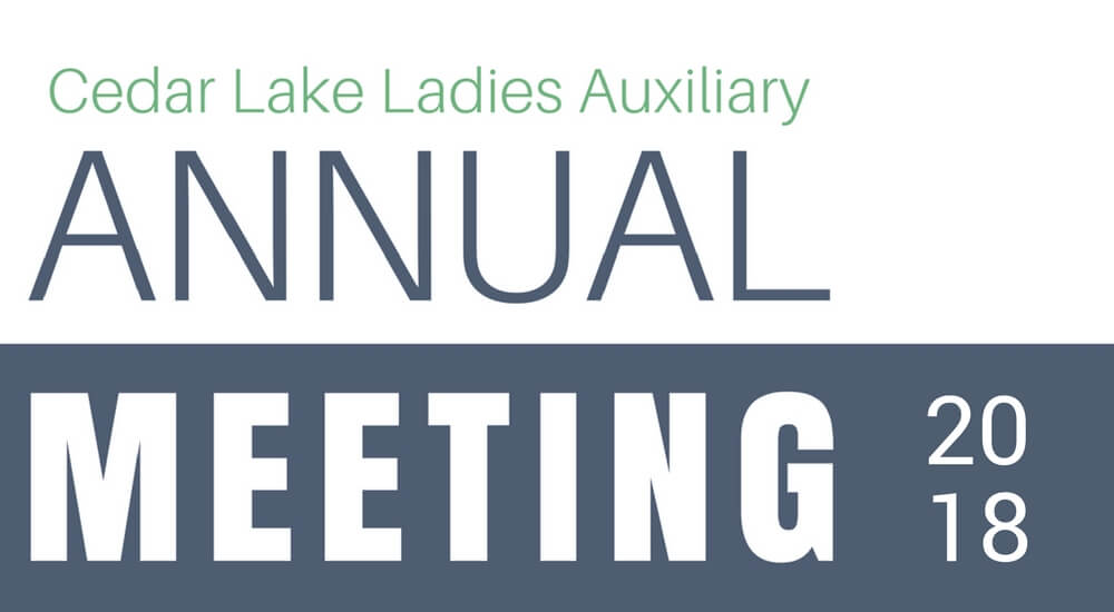 Cedar Lake Ladies Auxiliary Annual Meeting 2018