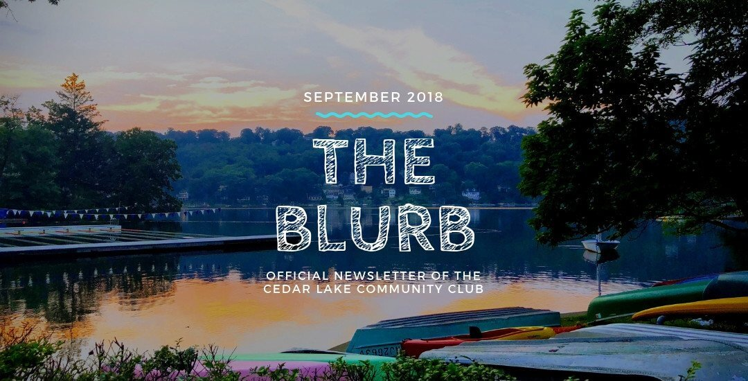 The Blurb | September 2018