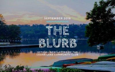 The Blurb | September 2018