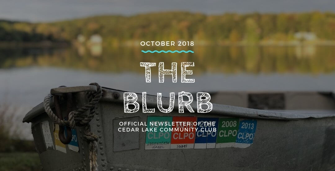 The Blurb | October 2018