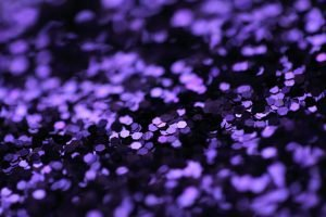 Purple glitter spread out